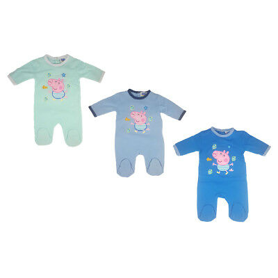 Babies Peppa Pig/George Pig Babygrow/All In One - 3/6/12/18/23 Months