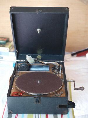 """Gramophone Phonographe Tourne Disques  """" Son  D'or """""""
