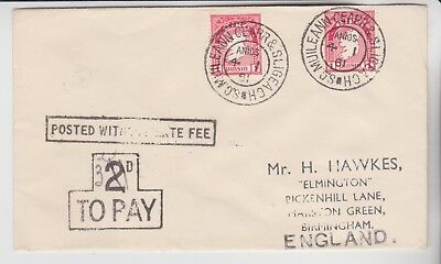 Eire Stamps 1961 Envelope With Postage Due Cachets Rares Collection