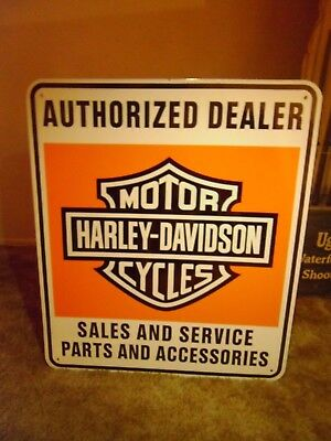 Harley Davidson Motorcycle  Porcelain sign -Heavy Big Sign-