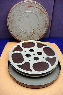 Old 16Mm Film Reel For Spare, Take-Up Reel  ( This Reel Contains Old Movie Film)