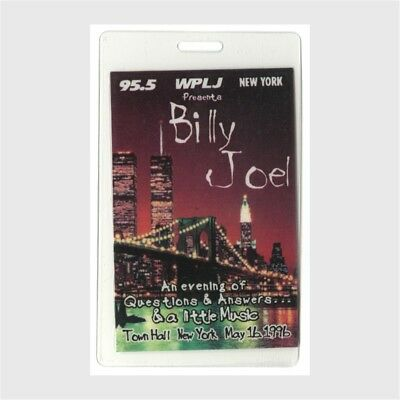 Billy Joel authentic 1996 concert Laminated Backstage Pass New York City WPLJ