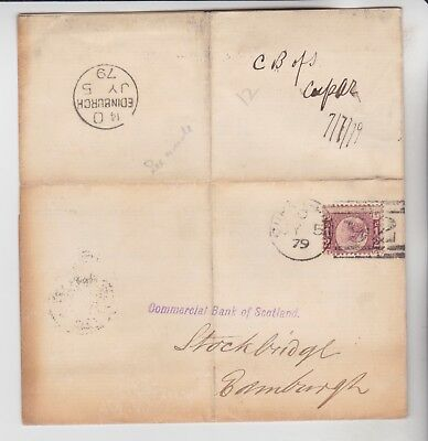 Gb Stamps 1879 Bank Of Scotland Loss Of Cheque Printed Letter Rares Collection