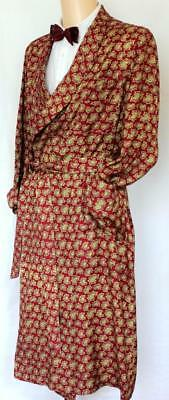 VINTAGE TOOTAL PAISLEY DRESSING GOWN, SMOKING JACKET Medium