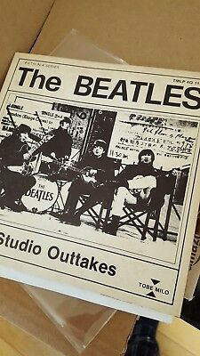 The Beatles Studio Outtakes 33 1/3 Sleeve + Damaged Vinyl Very Rare