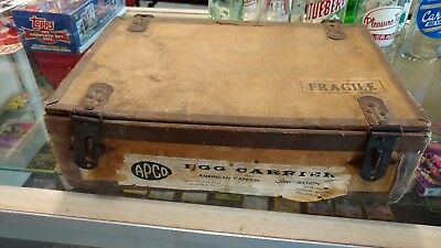 Extremely Rare American Paperware Corp. Egg Carrier Salesman Case Wood/fiber Bd