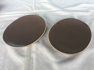 MCM Russel Wright Nutmeg Highlight Haden City Pottery Set 2 Covers (or plates)