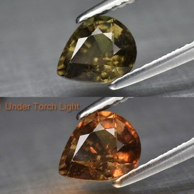 1.25ct 7x6mm Pear Natural Unheated Color Change Garnet, Africa