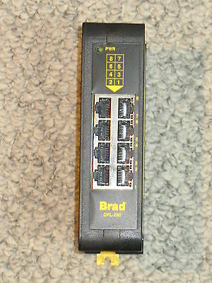 Brad DRL-280 8 Port Industrial Ethernet Switch Unmanaged, 24VDC