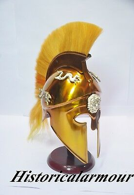 Greek Corinthian Armor Helmet With Plume Armour Medieva Spartan Helmet Ha-42