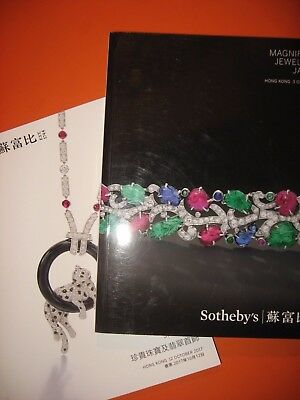 2x Sotheby's MAGNIFICENT important JEWELS HONG KONG CATALOGS 3 & 12 OCTOBER 2017