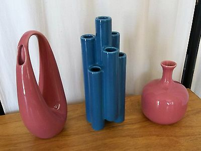 RARE Mid Century Toyo IKEBANA Vases **Teardrop** Stepped Cylinders** Excellent