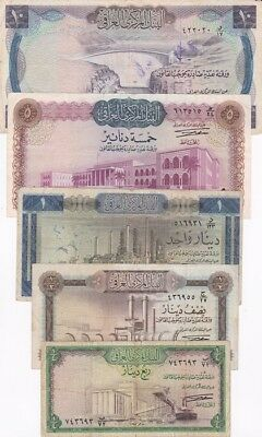 *The Republic of Iraq Banknotes Collection 1971 Full Issue Prs. A Aref Rare