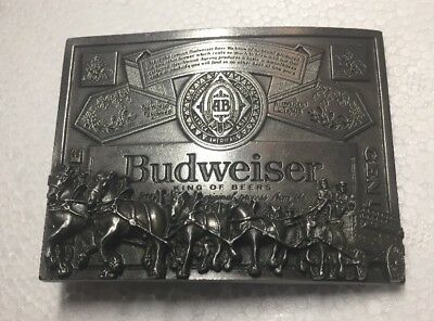 Budweiser Belt Buckle Made In USA Official Product Licensed Item