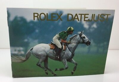 Rolex Oyster Watch (R7) Datejust Booklet Brochure