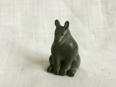 OLD 50's INUIT ESKIMO SOAPSTONE CARVING ARTIC HARE
