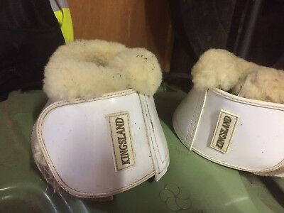 Kingsland White Sheepskin Over Reach Boots Full Size
