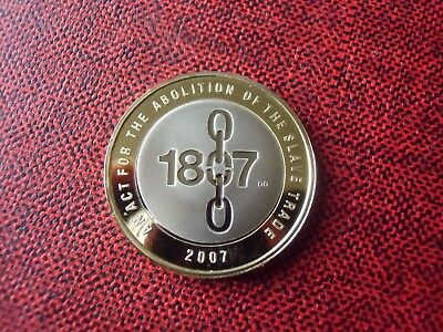 Proof 2007 Abolition of the Slave Trade Two Pounds Coin ( Not Silver ) + Capsule