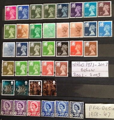 38 Welsh Stamps