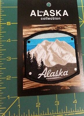 New Alaska Patch - Beautiful Denali patch - Plaque style embroidered patch