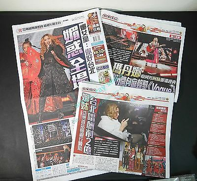 NEW MADONNA Rebel Heart Tour 2016.0205 Taiwan Newspaper clippings 3 pages Not CD