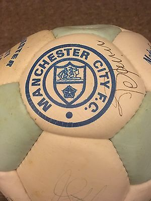 Manchester City Vintage Signed Football