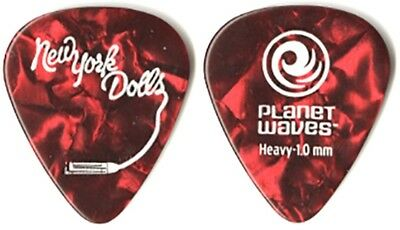 New York Dolls Earl Slick authentic 2011 tour Planet Waves red pearl Guitar Pick