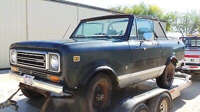 1979 International Harvester Scout  1979 INTERNATIONAL SCOUT II,  4X4 CONVERTIBLE,  RUNS AND DRIVES,  TEXAS TRUCK