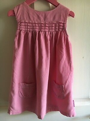 Jo Jo Maman bebe Pink Corduroy Pinafore Dress 3-4 Years