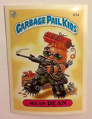 Mean Dean 41a Garbage Pail Kids (1985) UK 1st Series Sticker/1980's/Vintage