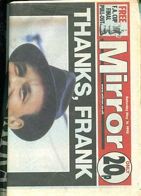 Thanks Frank - Daily Mirror Edition 16 May 1998 Death Of Frank Sinatra