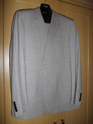 "Paul Smith Gents Two Piece Light Grey Suit - 44R - Trousers 36"" X 34"" Excellent"