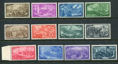 ITALY 1948 RISORGIMENTO Mint to 100L 12 Stamps High cat