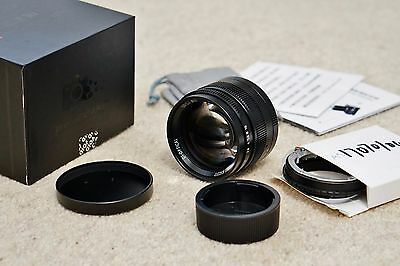 7artisans 50mm f/1.1 Leica M manual lens w/Sony E-mount adaptor, full-frame, UK