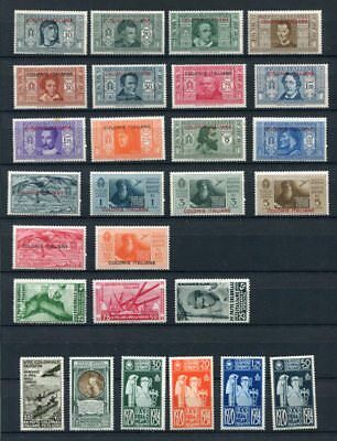ITALIAN COLONIES DANTE MNH Set etc to 100L 27 Stamps cat EURO 335