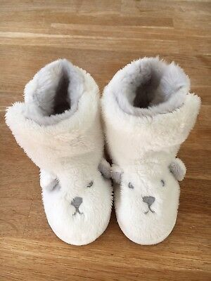 The Little White Company Bear slippers -Age 18-24 Months