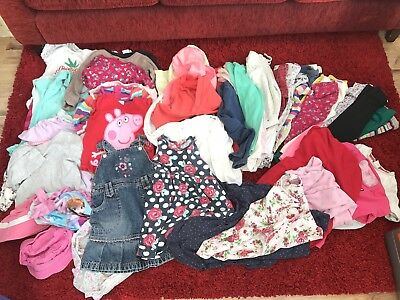 Girls 4-5 Years Job Lot Clothes Winter Bundle. Tops Trousers Dresses Pjs Jackets