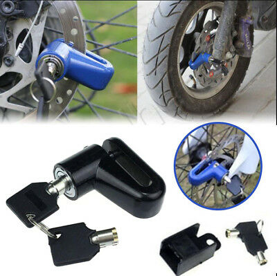 Motorcycle Rotor Lock Security Anti-theft Moped Scooter Disk Brake Rotor Lock
