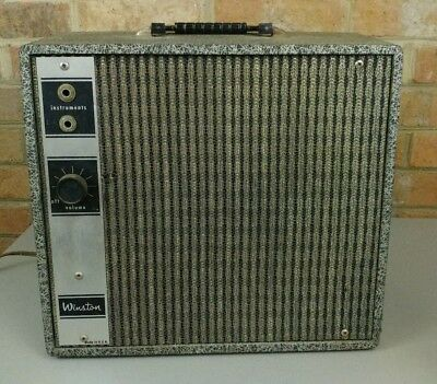 As-is for parts or repair Winston Model 460 Vintage Guitar Tube Amp