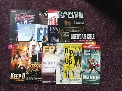 Various Strictly Stars Theatre Flyers 2017 X 15