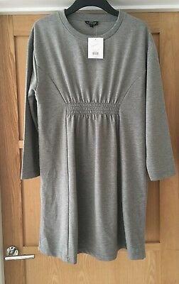 Topshop Maternity Grey Sweater Dress. Size 10. NEW with TAGS RP£30