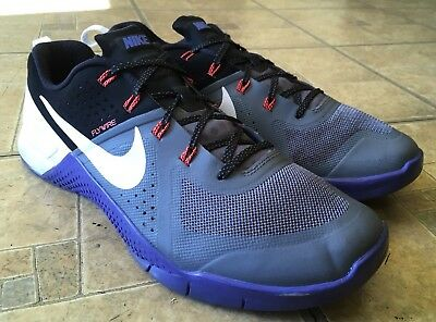 Nike Metcon 1 Cool Grey White Black Persian Violet 704688-010 Men Size 12
