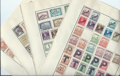 Hungary stamps. 4 pages of early MH & used. (A295)