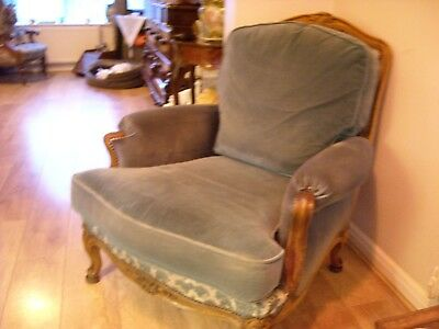 pair french edwardian armchairs