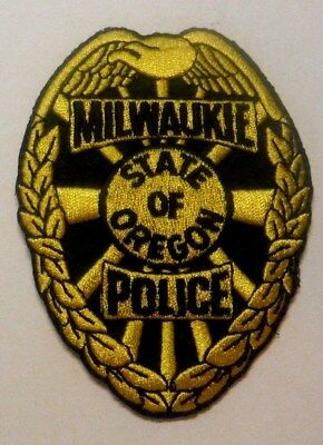 Milwaukie Oregon Police Hat Vest Patch Unused