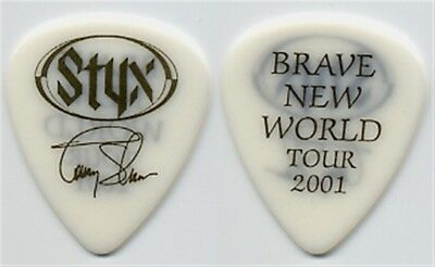 Styx Tommy Shaw collectible 2001 Brave New World tour signature Guitar Pick