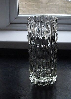 "vintage lead crystal vase, 9"" high"