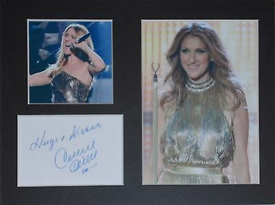 Celine Dion signed mounted autograph 8x6 photo print display  #T1