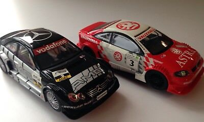 2x SCALEXTRIC CARS - MERCEDES CLK DTM & OPEL V8 COUPE