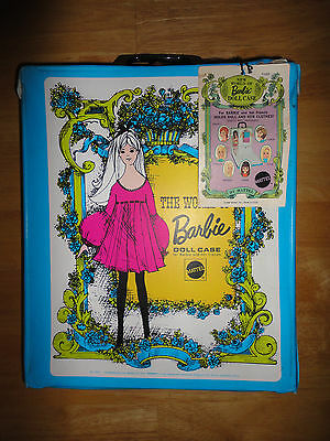 Vintage 1968 BARBIE DOLL CASE from MATTEL #1002 *NEW WITH TAG*